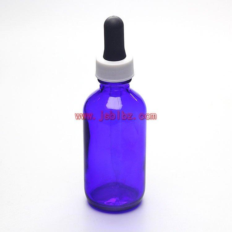 60ML蓝色玻璃滴管瓶药用玻