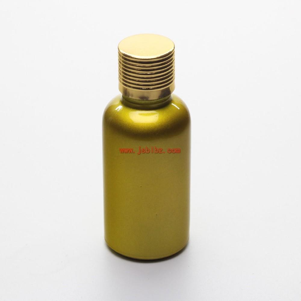 喷涂金色玻璃精油瓶带电