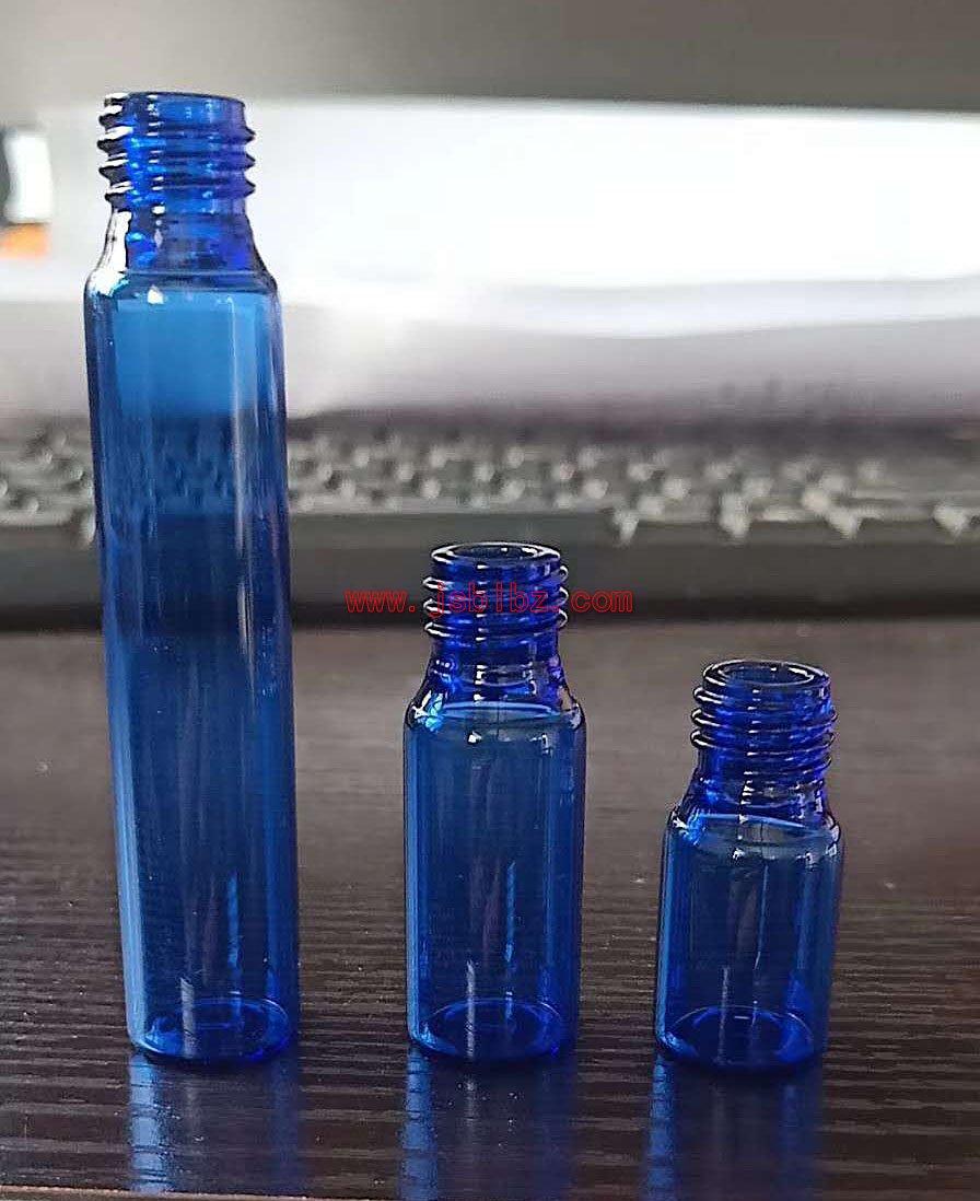 蓝色管制瓶拉管瓶丹阳厂家